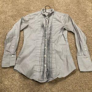 J Crew Ribbed Button down shirt